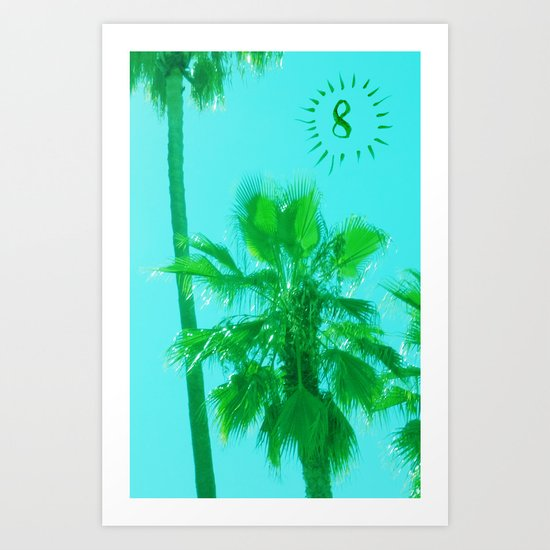palm tree number 8 Art Print