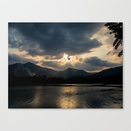 Shining Eye on the Sky Canvas Print