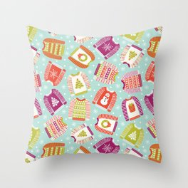 Ugly Christmas Sweaters Throw Pillow