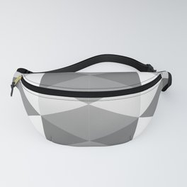 Grey Triangles Fanny Pack