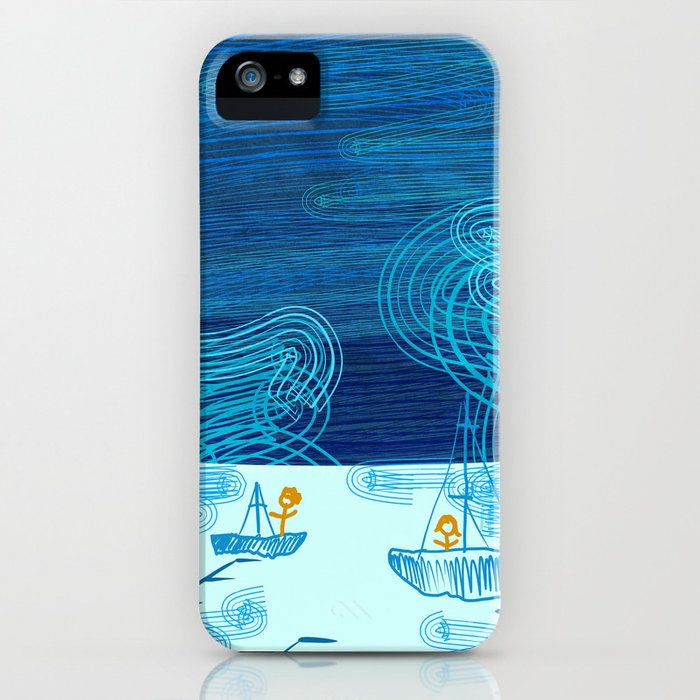 Of Boats And Sky iPhone Case