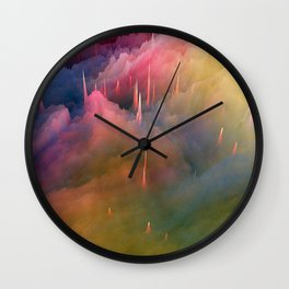 Snow Cone Drizzled With Cotton Candy Syrup Wall Clock