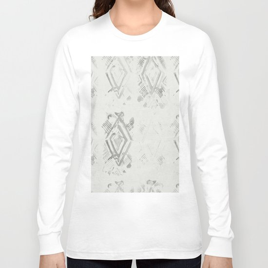 Simply Ikat Ink in Lunar Gray Long Sleeve T-shirt