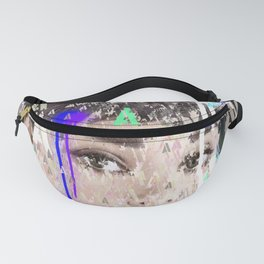 Audrey Type Abstract Art Fanny Pack