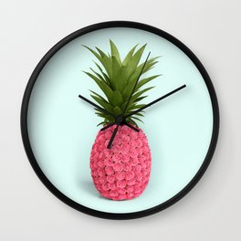 PINEAPPLE ROSES Wall Clock