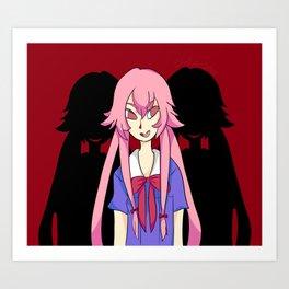 Gasai Yuno Art Print