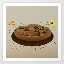 Chocolate Chips War Zone Art Print
