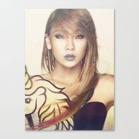 2ne1 Canvas Prints featuring 2NE1 CL by Margot Park