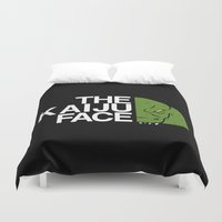 kaiju Duvet Covers featuring The Kaiju Face by Buby87