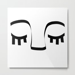 Sleeping Face Metal Print