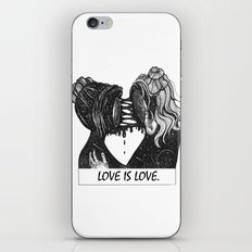 love is love. iPhone Skin