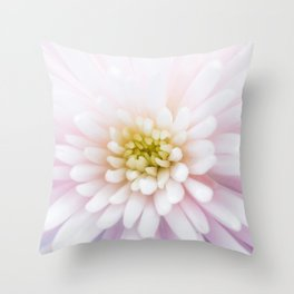 Happy Moments - Beautiful Bright Dreamy Spider Mum Flower Throw Pillow