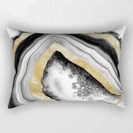 Agate Gold Foil Glam #1 #gem #decor #art #society6 Rectangular Pillow