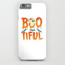 Cute Boo-tiful Ghost Bootiful Funny Beautiful Pun iPhone Case