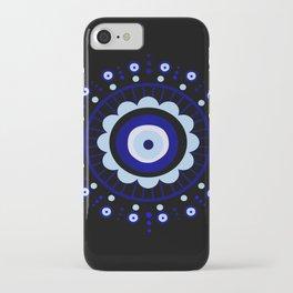 Evil Eye Flower Burst iPhone Case