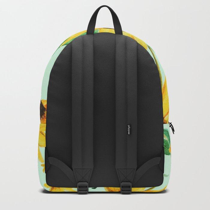 yellow sun choke flower 2 Backpack