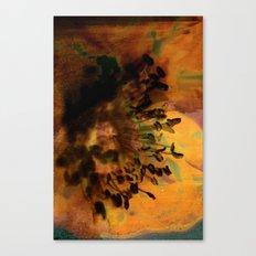 Earth Tones Flower Love Canvas Print