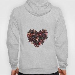 petals tea formed in heart shape Hoody