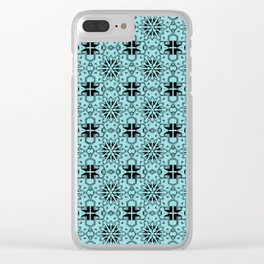 Island Paradise Star Geometric Clear iPhone Case