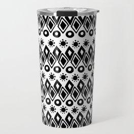 Hand painted black white watercolor abstract geometric tribal Travel Mug