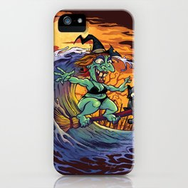 Witch At The Beach iPhone Case