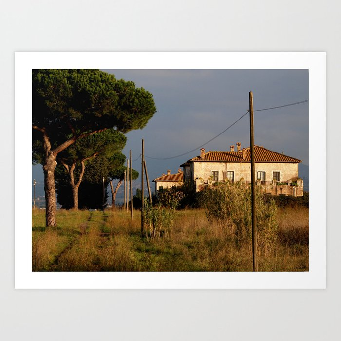 Sunny countryside in Italy Art Print