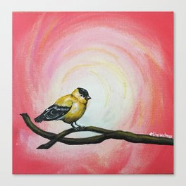 Minimalist Goldfinch Canvas Print