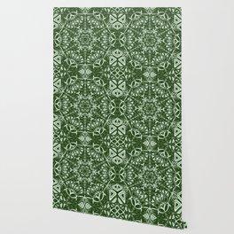Green Mandala Wallpaper