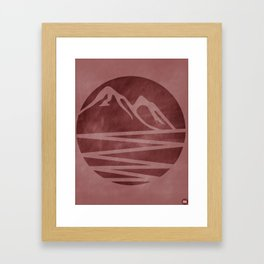 Over The Horizon Framed Art Print