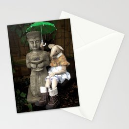 Miss Mouse and Garden Buddha Stationery Cards