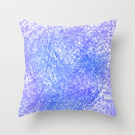 Bright Blue Purple Abstract Painting Throw Pillow