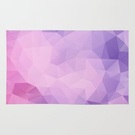 Triangles design in pink and purple colors Rug