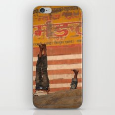 Doing Yoga on the Ghats iPhone & iPod Skin