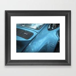 Blue Duck Tail Framed Art Print