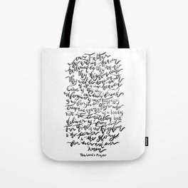 The Lord's Prayer - BW Tote Bag