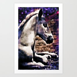 Baby Unicorn Art Print