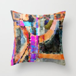 Artful Spirit Mosaic Bold Pattern Colorful Geometric Abstract - Corbin Henry Throw Pillow