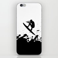 surfer iPhone & iPod Skins featuring Surfer by Emir Simsek