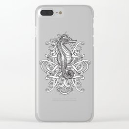 Seahorse and Curlicues Clear iPhone Case