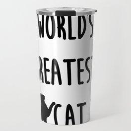 World's Greatest Cat Dad Travel Mug