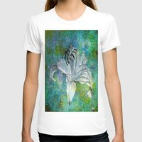 lily T-shirts featuring Lily by Saundra Myles