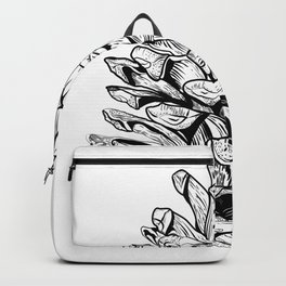 Pine cone illustration Backpack