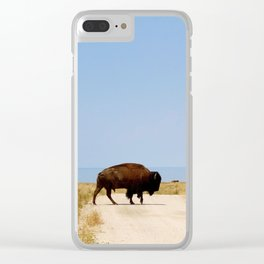 Buffalo Crossing Utah Clear iPhone Case