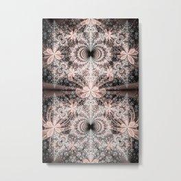 Pink Fractal Flowers Metal Print