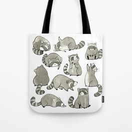 Delightfully Blobby Raccoons Tote Bag
