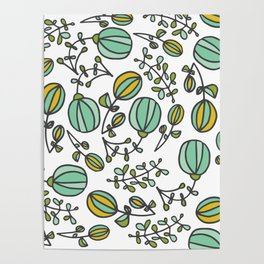 Flowing Floral Poster