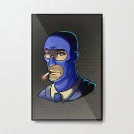 Blue Spy! Metal Print