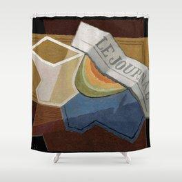 """Juan Gris """"La Tranche De Melon"""" Shower Curtain"""