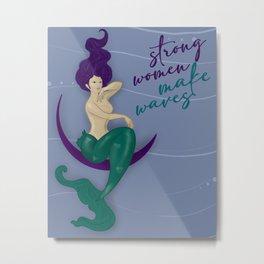 strong women make waves Metal Print