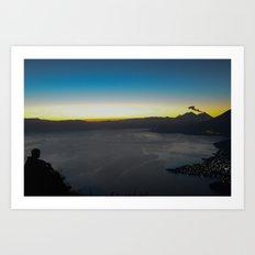 Lake Atitlan - Sunrise Art Print